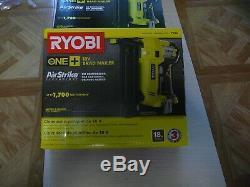 Ryobi 18 Volt One + 18 Gauge Sans Fil Cloueuse. Nouveau. Withnails, B-clip. Des Navires Rapides