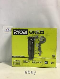 Ryobi 18-volt One+ 16-gauge Cordless Direct Finition Nailer Boîte Ouverte