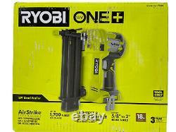 Ryobi 18-volt One+ Airstrike Sans Fil 18-gauge Brad Nailer Avec Clip (outil Seulement)