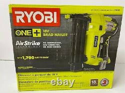 Ryobi 18-volt One+ Airstrike Sans Fil 18-gauge Brad Nailer (outil Seulement) Boîte Dmg