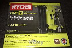 Ryobi 18-volt One + Sans Fil Airstrike 18 Gauge Cloueuse Neuf Dans La Boîte