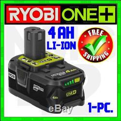 Ryobi 18v 4ah Li-ion Haute Capacité P197 One + Jauge De Carburant D'origine Oem P108