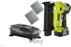 Ryobi Brad Nailer Kit Avec Batterie 1,3 Ah 18 V One + Sans Fil Airstrike 18-gauge