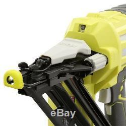 Ryobi Cloueuse De Finition Coudée De Calibre 15 - 750 Clous / Charge - Pistolet À Air Comprimé 18 V One +