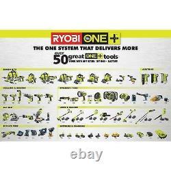 Ryobi Narrow Crown Stapler Tool 18 V One Cordless Airstrike 18 Gauge Tool Only