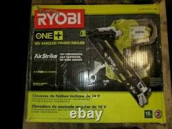 Ryobi One + 18v Airstrike Calibre 15 Angled Cloueuse De Finition (outil Uniquement) Modèle P330