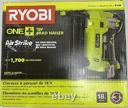 Ryobi One+ 18v Brad Nailer Airstrike 18 Jauge Outil Sans Fil Seulement