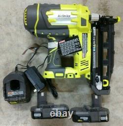 Ryobi One+ 18v Sans Fil 16 Gauge Finish Nailer Kit 2 Batteries Modèle # P325