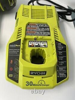 Ryobi One+ 18v Sans Fil 16 Gauge Finish Nailer Kit 2 Piles Avec Chargeur #p325
