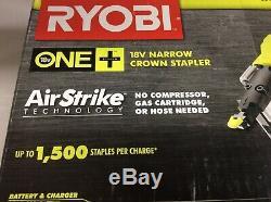 Ryobi One + Air Strike Technology P360 18v Couronne Étroit Agrafeuse De Calibre 18 Nouveau