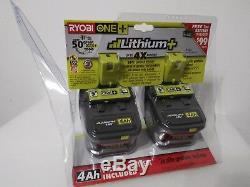 Ryobi P122 P108 Pile Au Lithium Haute Capacité De 18 Volts, 4,0 Ah, Avec Jauge À Carburant