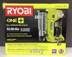 Ryobi P318 18v One + Airstrike Sans Fil De Calibre 23 1-3 / 8 Acéphale Pin Cloueur New