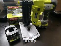 Ryobi P320 18-gauge Cordless Brad Nailer 18-volt One+ Airstrike Batterie &charger