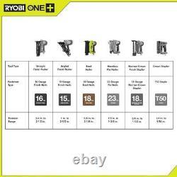 Ryobi # P320 18-volt One + Sans Fil Airstrike 18 Gauge Cloueuse (outil Seulement)