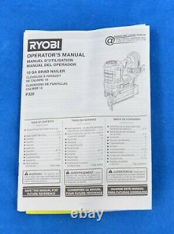 Ryobi P320 Airstrike One+ Brad Nailer, 18 Volts, 18 Jauge, Sans Fil