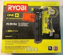 Ryobi P325 18-v One + Airstrike 16-gauge Sans Fil Droite Cloueur (tool-only) (o)
