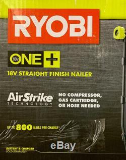 Ryobi P325 18-volt One + Airstrike 16-gauge Sans Fil Droite Cloueur