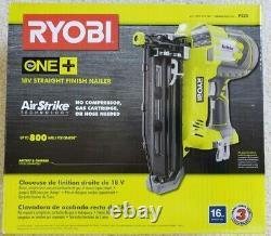 Ryobi P325 18v 18-volts One+ Airstrike 16ga Cordless Straight Finish Nailer Nouveau