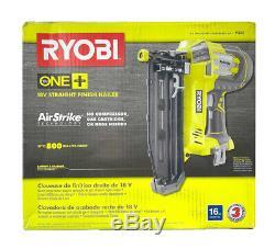 Ryobi P325 18v One + Airstrike Calibre 16 Sans Fil Droit Cloueuse Outil Seule Nouveau