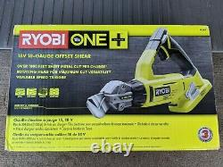 Ryobi P591 One+ 18v 18 Gauge Offset Shear Tool Only New