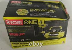 Ryobi P739bk 18 Volt One+ Compresseur D'air Sans Fil De 1 Gal Avec Nailer 18-gauge