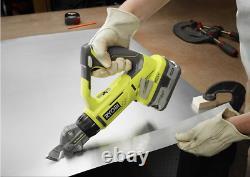 Ryobi Shear Sheet Metal Saw P591 Cordless One+ 18v 18 Gauge Offset Tool Only New