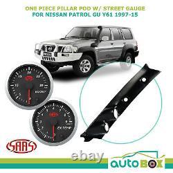 Saas Pillar Pod À Une Pièce Pour Nissan Gu Patrol 1997-2015 Boost Exhaust