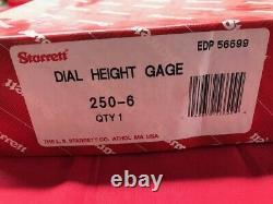 Starrett 250-6 Dial Height Gage Last One En Stock