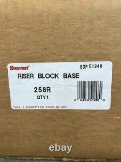 Starrett 258r10 Riser Block Pour 258 Digi-chek Hauteur Gage Dernier À Stock