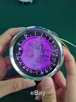 Tachymètre De Gps De Voiture De Digital D'indicateur De Volt De Carburant De La Température De L'eau De Carburant De Jauge D'huile 3unit 85mm