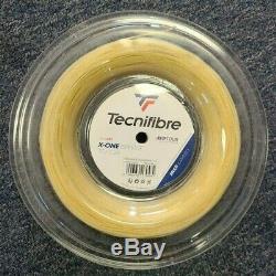 Tecnifibre X-one Biphase 17 Gauge 1.24mm 660' 200m Tennis String Reel Natural