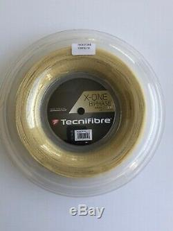 Tecnifibre X-one Biphase Calibre 16 1.30mm 660' 200m Tennis String Reel Natural