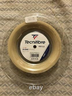 Tecnifibre X-one Biphase Chaîne De Tennis 16 Jauge 1.30 Bobine. Grand Multifilament