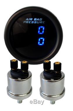 Un Jauges Air Double 200psi Affichage Numérique Suspension Pneumatique Système Tinted Led