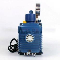 Une Étape Pompe À Vide À Palettes Rotatives Avec Manomètre 4.3cfm 1 / 3hp Air Réfrigération 2pa