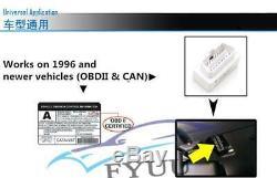 Universal Car Dash Race Obd2 Bluetooth Tableau De Bord LCD Gauge Numérique À 7000rpm