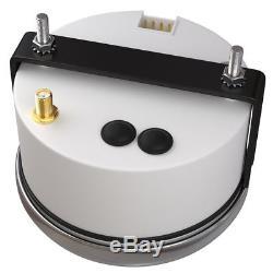 Voiture Bateau Numérique Gps Speedo Tachymètre Voltmètre Carburant Température De L'eau Eau Cadran Blanc 1x