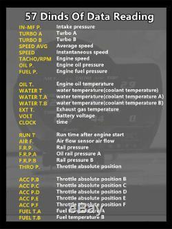 Voiture Obd2 Vitesse D'affichage Mètres Mètres Turbo Boost Pression Support Système D'alarme
