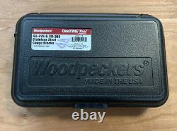 Woodpeckers Gauge Blocs Gb-225 & Gb-369 Outil Unique Avec Cas Dur